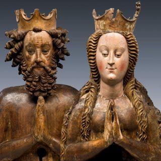 Reliquienbüsten Heinrichs II. und Kunigundes, wohl Böhmen, um 1430/40, Diözesanmuseum Paderborn, ©Foto Diözesanmuseum