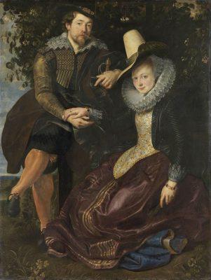 Rubens und Isabella Brant in der Geißblattlaube; Peter Paul Rubens, um 1609; Öl auf Leinwand 179× 136,5cm; Alte Pinakothek