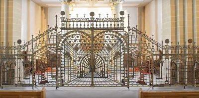 Perspektivisches Gitter aus der Barock-Zeit, Paderborner Dom, Foto: DiözesanmuseumPaderborn